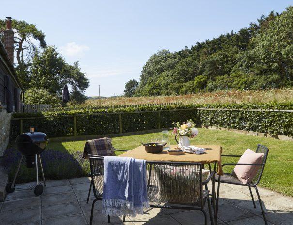 The Hayloft garden area