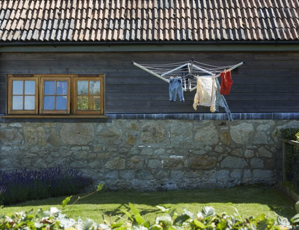 Washing line for outdoor drying